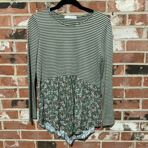 stripe/floral top *only two left!
